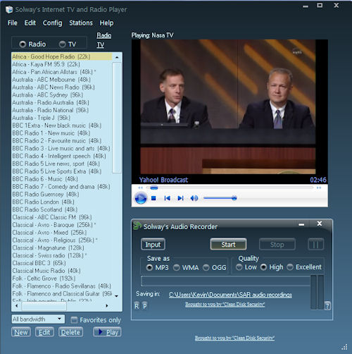 Click to view Solway's Internet TV and Radio 2.0 screenshot